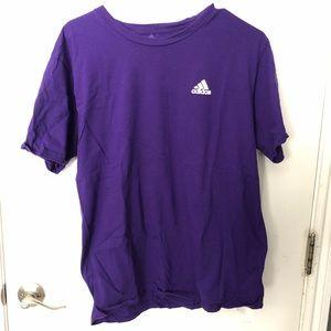 Purple Adidas Performance Tee